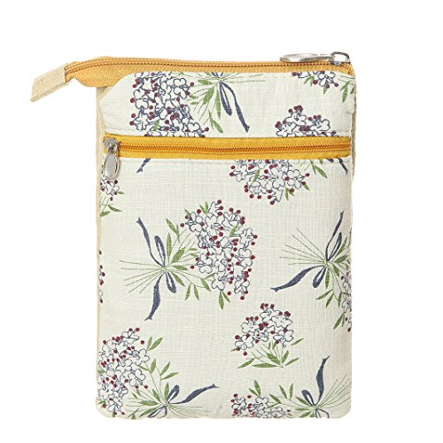Canvas Bags Women Wallet Purse Pattern For Yellow Flower Small Crossbody Purse Phone AOCINA Cell Ugw7WqF41