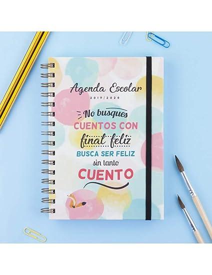 Casterli - Colección Positive - Agenda Escolar 2019-2020, Día Página, Tamaño A5 (Cuento)