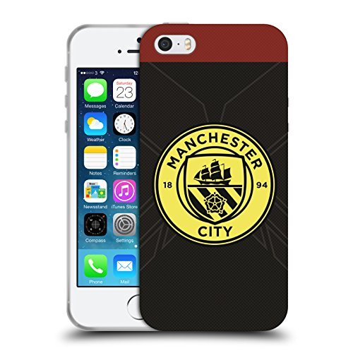Officiel Manchester City Man City FC Extérieur Badge Kit 2016/17 Étui Coque en Gel molle pour Apple iPhone 5 / 5s / SE