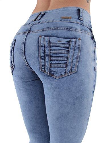 Q215 - Plus/Junior Size Colombian Design Butt Lift Unfinished Hem Skinny Jeans