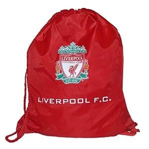 Liverpool F.C. - Mochila de cordones, diseño con escudo del Liverpool, color rojo