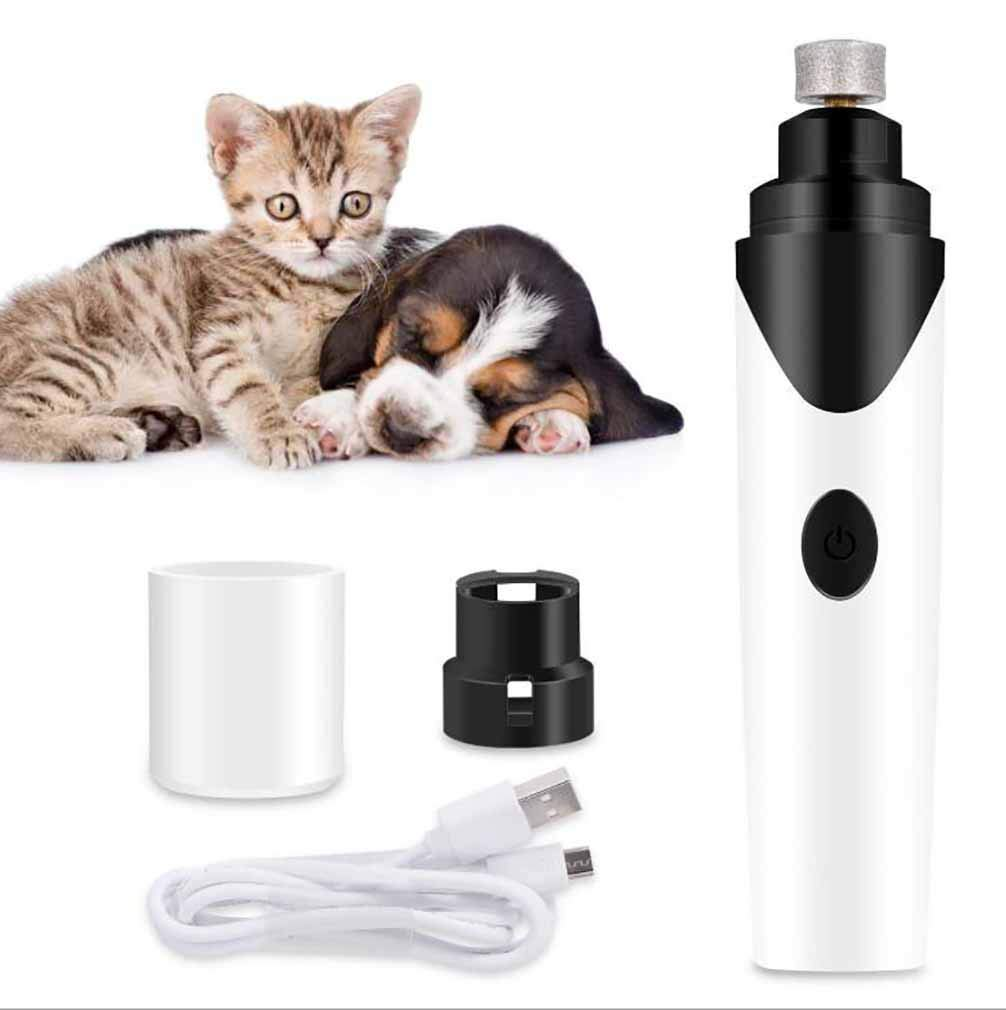 Electric Dog Nail Grinder, for Small Medium Large Dogs Cats Pets Paw, Ultra Quiet Dog Nail File Pet Nail Grinder Trimmer