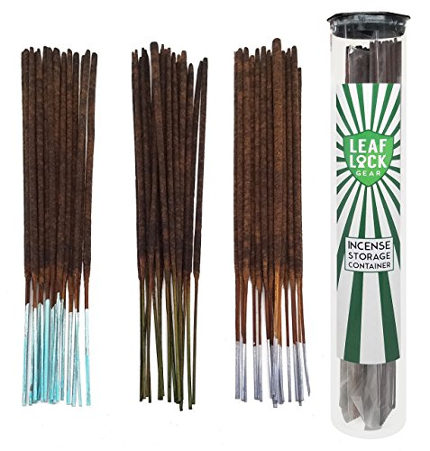 Bundle - 61 Items - Wild Berry Incense Sleepy Time and Relaxation Scent Sampler. Includes 20 Sticks Each of Lavender, Jasmine, and Sandalwood with Incense Stick Storage Container