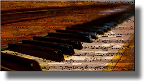 Piano Music Notes Vintage Picture on Stretched Canvas Wall Art Décor, Ready to Hang! (Music Vintage Pictures)