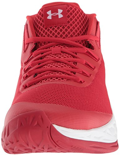 Under Armour Herren UA Jet Mid Basketballschuhe, Rot (Red/White)