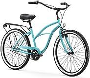 sixthreezero Around The Block Women's 3-Speed Cruiser Bicycle, Teal Blue w/Black Seat/G