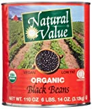 Natural Value 100% Organic Black Beans, 110 Ounce by Natural Value