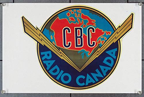 Print of Radio Canada Decal from 1940s - 1950s Very Fine Condition Please read - Read Please Notes