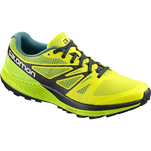 Salomon Herren Sense Escape Traillaufschuhe, Grau Sulphur Spring / Lime Green / Black