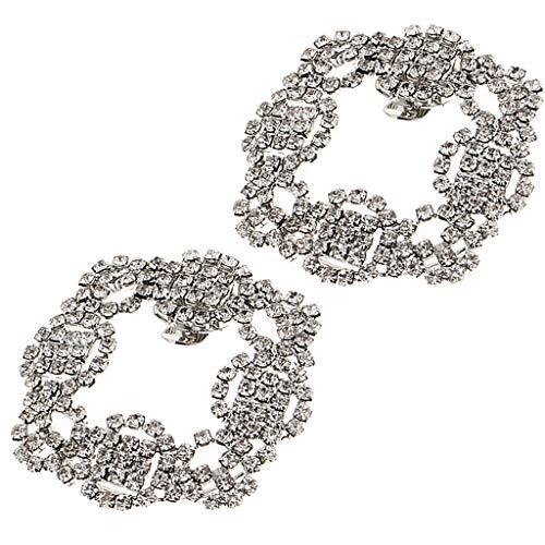 Squisito Pcs P Per Sposa Disegno Scarpa 2 Cristallo Unico Prettyia Decorazione Scarpe Fibbia Strass awxqpf8wE
