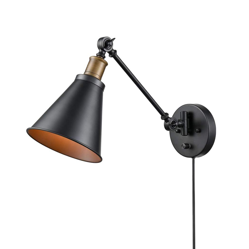 CLAXY Ecopower Vintage Style Simplicity Wall Swing Arm Lamp