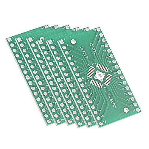 Qfn Dip Adapter - ZCHXD QFN 32PIN 0.65 / QFN 32PIN 0.8 to DIP Adapter PCB Board SMD Converter 6pcs
