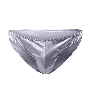 bb09e2aa36 samLIKE Slips Herren Sexy Leder Lack Tangas Reizvoll Elastisch Latex  Unterhosen für Men Bulge Pouch Unterwäsche