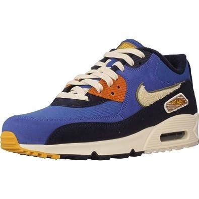low priced 15fd0 e32d2 Nike Men s Air Max 90 Premium Se Gymnastics Shoes, Blue (Game Royal Light  Cream Camper 400) 6 UK  Amazon.co.uk  Shoes   Bags