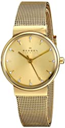 Skagen Women's SKW2196 Ancher Gold-Tone Stainless Steel Watch with Crystal Markers