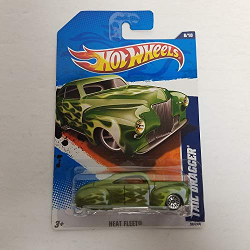 Hot Tail (Tail Dragger Green Color 2011 Hot Wheels Heat Fleet 1/64 diecast car No. 98)