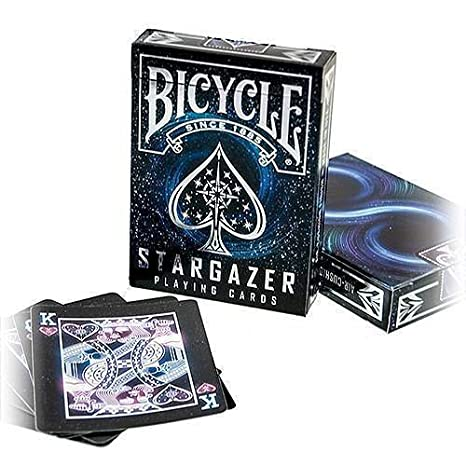 Bicycle Stargazer Baraja de Cartas Especial, Color Negro, Poker (1034630)