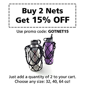 Hydro Flask Holder, with Shoulder Strap - Made by Gearproz, America's Most Trusted Brand in Hydro Flask Accessories (Black, 64 oz)