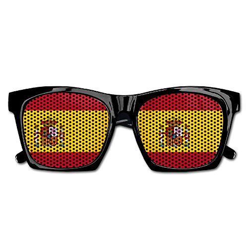 PINE-TREE Adult Spain Flag Fashionable Visual Costume Mesh Sunglasses Fun Props Party Favors Gift 1-Pack by PINE-TREE