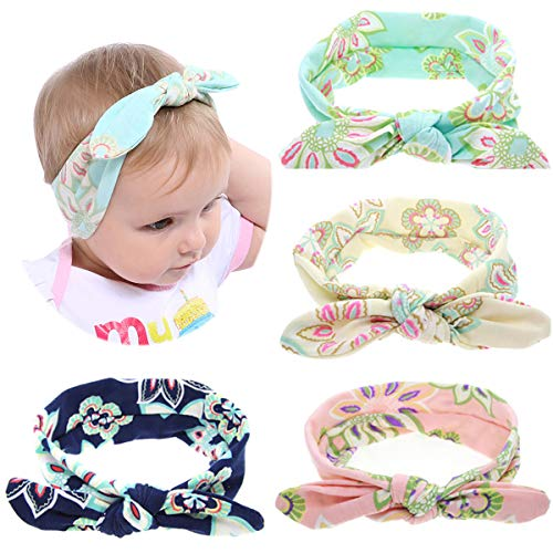 (4 Pcs Baby Hairband Girl Elastic Hair Accessories Cute Headbands Infant Toddler)