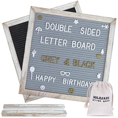 SOLEJAZZ Felt Letter Board Double Sided Letter Board