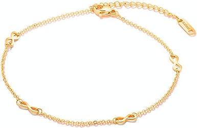 Gift For Mom Tiny 14k 18k Solid Gold Infinity Bracelet Endless Love Bracelet Gift For Her Dainty Heart Infinity Charm Gold Bracelet