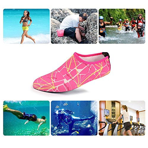 Men Yoga red Women printed Swim Shoes Dry Barefoot rose Beach Quick Surf Excrise Water Adult for Shoes UqwvEwS