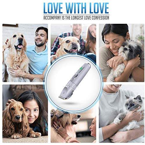 Dog Clippers Professional Dog Grooming Clipper Low Noise Rechargeable Cordless Pet Clippers for Dogs Cats Pets Silent Trimmer Dog Grooming Kit