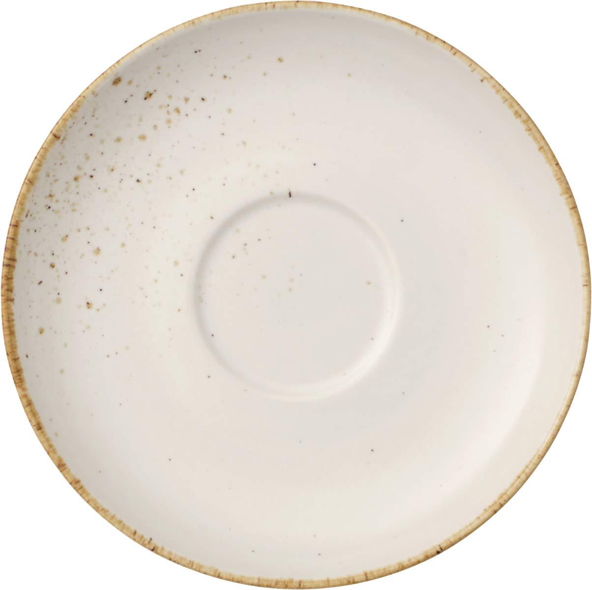Vivo Villeroy /& Boch Group 1952691220 Stone Ware White Milchkaffeeuntertasse 17,5 cm 1 St/ück