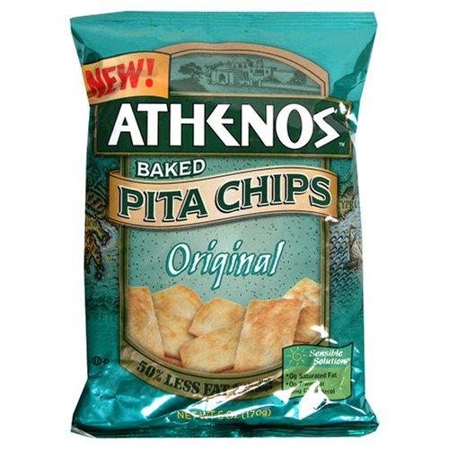 Athenos Pita Chips, Original, 9-Ounces (Pack of 12)
