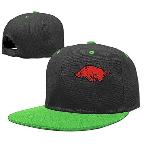 ACMIRAN University Of Arkansas Razorbacks One Size Baseball Hats KellyGreen (Arkansas Razorbacks Santa Hat)