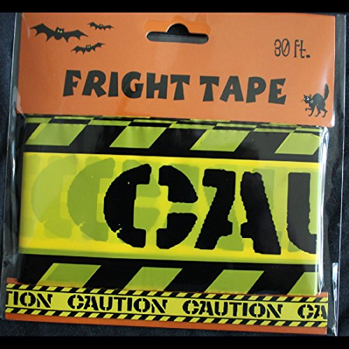 Zombie Prop Building-CAUTION-Barricade Fright Tape-Costume Party Decoration-30ft (Fright Props)