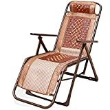 HOMEE Simple office recliner folding lunch break family chair nap bed old chair summer sleep chair (color optional),B