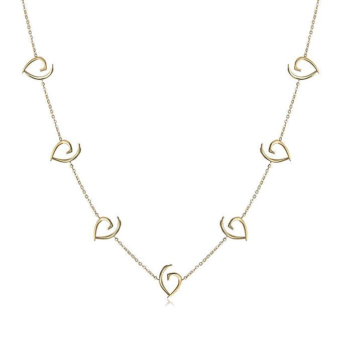Amazon.com: JINBAOYING I Love You Collar con colgante de ...