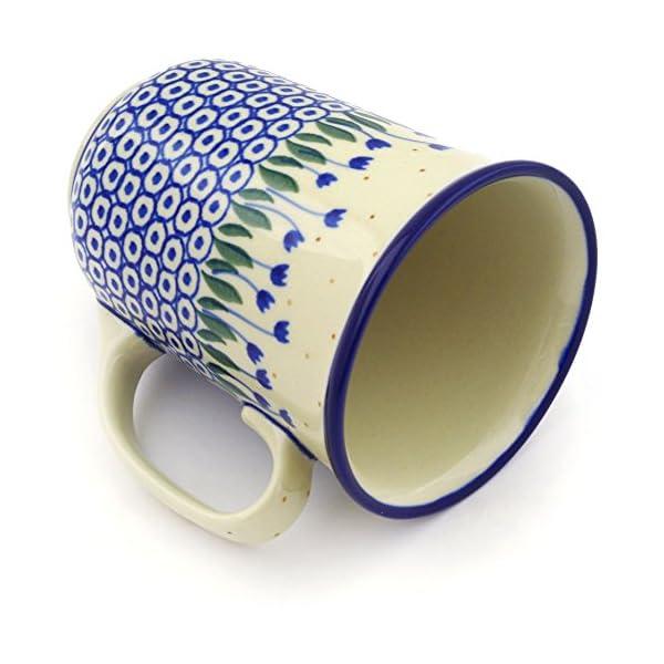 Polish Pottery Mug 17 oz Water Tulip