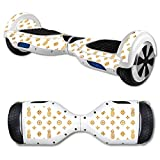 MightySkins Protective Vinyl Skin Decal for Hover Board Self Balancing Scooter mini 2 wheel x1 razor wrap cover sticker Gold Pineapples