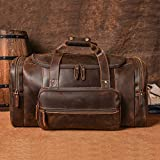 "Polare 23"" Full Grain Cowhide Leather Gym Duffle"