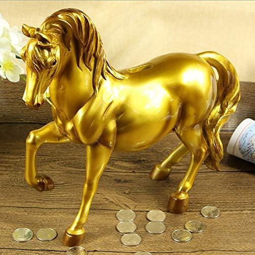 馬の貯金箱クリエイティブシミュレーション馬の貯金箱新年のギフトのためのかわいい飾り硬貨収納ボックスクリスマスのギフト,3