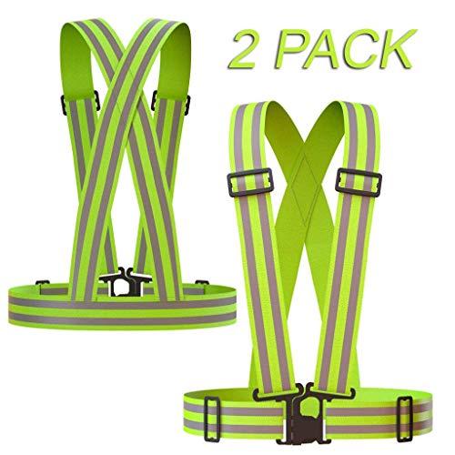 CoWalkers Chaleco reflectante con bandas de alta visibilidad, ajustable y elástico | Seguridad y alta visibilidad para...