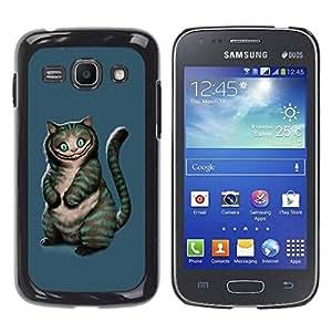 Caucho caso de Shell duro de la cubierta de accesorios de protección BY RAYDREAMMM - Samsung Galaxy Ace 3 GT-S7270 GT-S7275 GT-S7272 - Evil Cat
