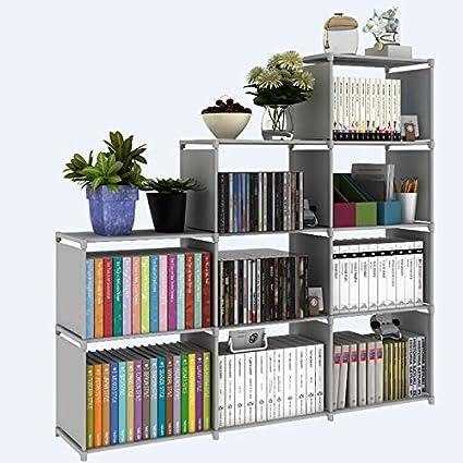 office book shelf decorate office bookshelf 9cubes book shelf office storage plastic cabinet grey amazoncom