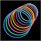 Lumistick 20 Inch Glow Stick Necklaces with Connectors | Kid Safe and Non-toxic | Light Up Glowstick Necklaces Party Pack | Available in Bulk and Color Varieties | Glows up to 12 hours (Assorted, 100)