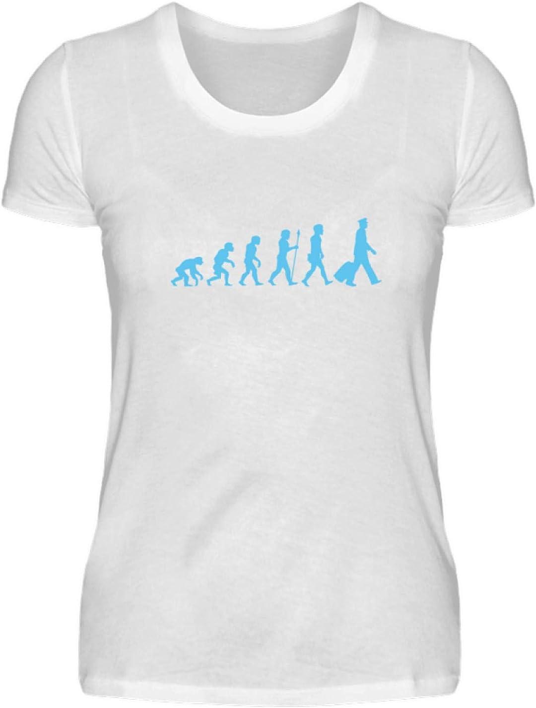 La Evolución del Piloto - Nómade - Viajar por el Mundo - Wanderlust - Camisa de Damas: Amazon.es: Ropa y accesorios