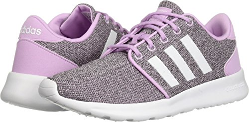 adidas Women's CF QT Racer Running Shoe, Clear Lilac/White/Black, 7 M US