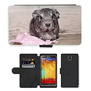 PU LEATHER case coque housse smartphone Flip bag Cover protection // M00114373 Guinea Pig Animal joven de pelo liso // Samsung Galaxy Note 3 III N9000 N9002 N9005
