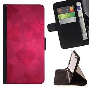 Momo Phone Case / Flip Funda de Cuero Case Cover - Patrón floral rojo;;;;;;;; - LG OPTIMUS L90
