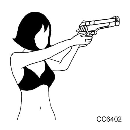 Handaxian 3 unids Cuerpo Pegatina Tatuaje Impermeable Pistola de ...