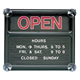 Quartet Open and Closed Sign, 14 x 12 Inches, Black (8130-1)