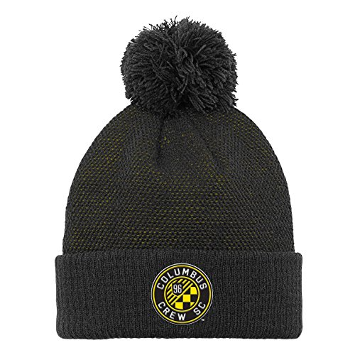 MLS Columbus Crew Boys Cuffed Knit Hat with Pom, Sun, One Size (8) (Columbus 1)