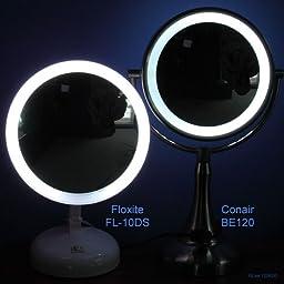 Amazon Com Conair Fluorescent Lighted Mirror Satin